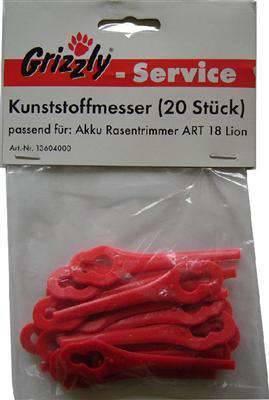 Grizzly Kunststoffmesser 20 Stück Passend Für Art 18 Lion Mein