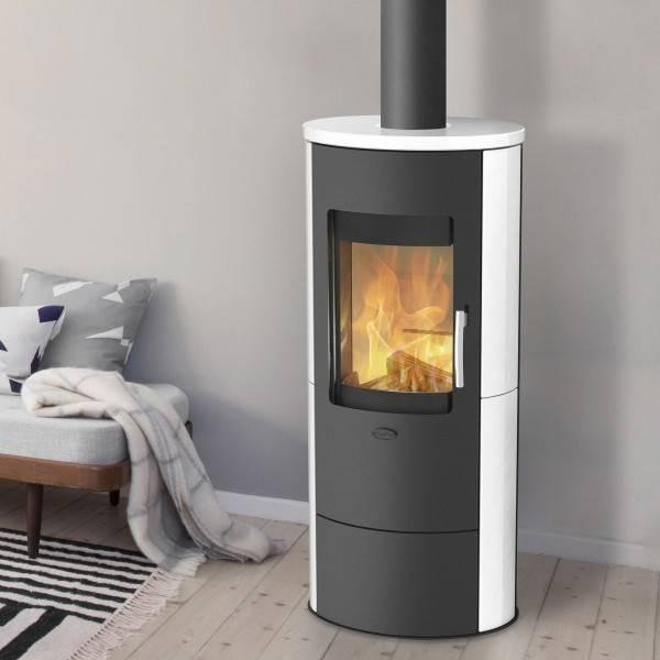 Fireplace Kaminofen Roma 2 Keramik, 5,5 kW, Dauerbrand, Kamin, Ofen