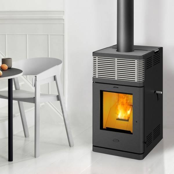 Fireplace Pelletofen Gravio, 8 kW, stromlos, Stahl, Automatik, Kamin, Ofen